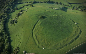 Ladle Hill unfinished hillfort  aerial photograph