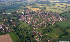 Overton Hampshire   aerial photograph