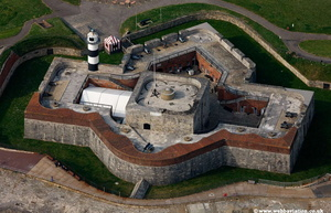 Southsea Castle Portsmouth  Hampshire  England UK aerial photograph