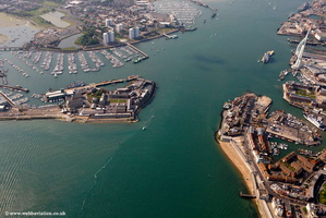 Portsmouth  Hampshire  England UK aerial photograph