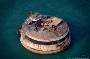 Spitbank Fort  Portsmouth  Hampshire  England UK aerial photograph