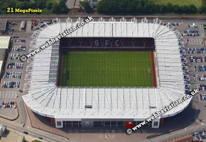 St. Mary's Stadium in Southampton, aerial photograph
