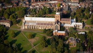 St Albans Cathedral   aerial photograph