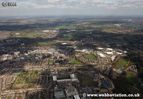 Watford Hertfordshire  Hampshire  England UK aerial photograph