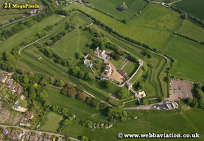 Carisbrooke Castle Isle of Wight England UK aerial photograph