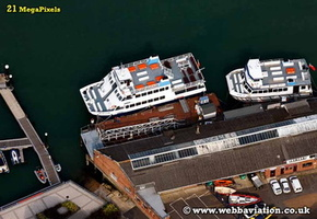 Cowes  Isle of Wight   England UK aerial photograph