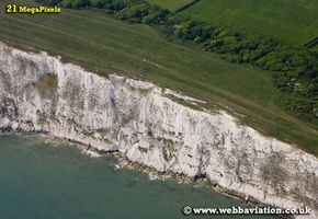 Freshwater Bay  Isle of Wight England UK aerial photograph