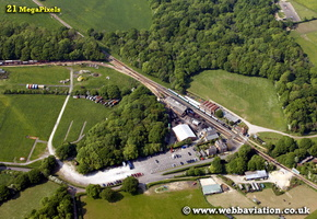 Isle of Wight Steam Railway  England UK aerial photograph