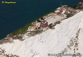 the Needles Battery Isle of Wight   England UK aerial photograph