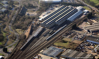 Chart Leacon Train and Rolling Stock Maintenance Depot Ashford from the air