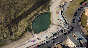 Birchington tidal swimming pool  from the air