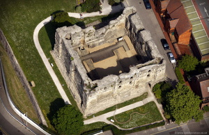 Canterbury Castle from the air