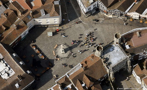 Buttermarket  Canterbury from the air