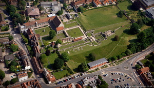St Augustine's Abbey Canterbury from the air