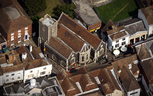 St. Margaret's Church, Canterbury from the air