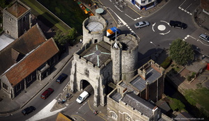 The Westgate  Canterbury from the air