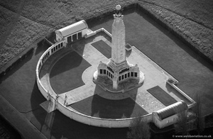 Chatham Naval Memorial from the air