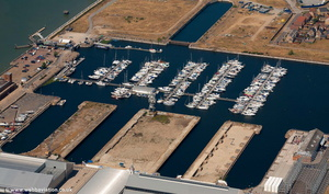Chatham Maritime Marina  from the air