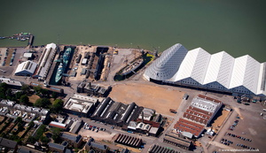 Chatham Historic Dockyard  site from the air