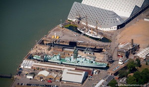 Chatham Historic Dockyard  from the air