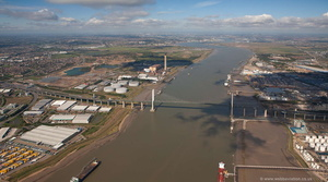 Dartford Crossing from the air