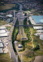Dartford Tunnel from the air