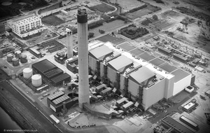 Littlebrook Power Station from the air