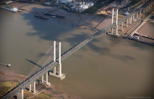 Queen Elizabeth II Bridge,Dartford Crossing from the air