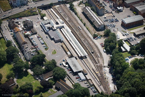 Dover Priory railway station from the air