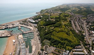 Dover Western Heights from the air