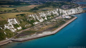 Samphire Hoe Country Park from the air