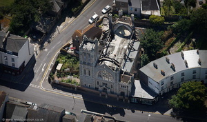 St Columba Church Dover  , aka the United Reformed Church  from the air