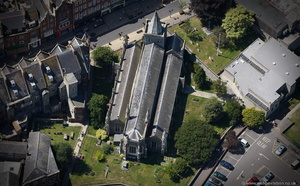 St Mary's Church, Dover from the air