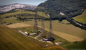 Chain Home Radar Station near Dover  from the air