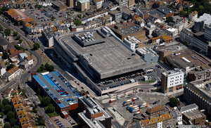 Bouverie Place Shopping Centre Folkestone from the air