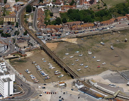 Folkestone Harbour Viaduct and Swing Bridge  from the air