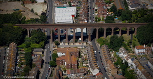 Folkestone Railway Viaduct from the air
