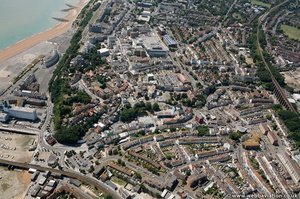 Folkestone town centre Folkestone  from the air