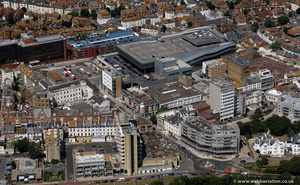 Folkestone town centre from the air