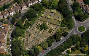 Kingsnorth Gardens  Folkestone from the air
