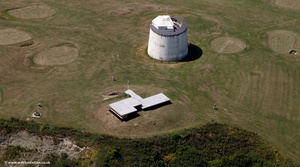 Martello Tower Folkestone  from the air