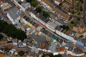 Tontine St & Old High Street Folkestone from the air