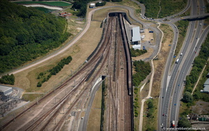 Channel Tunnel entrance from the air