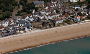 beach front homes surrounding Sandgate Castle  from the air