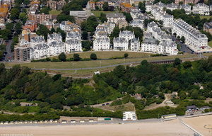Clifton Crescent Folkestone from the air