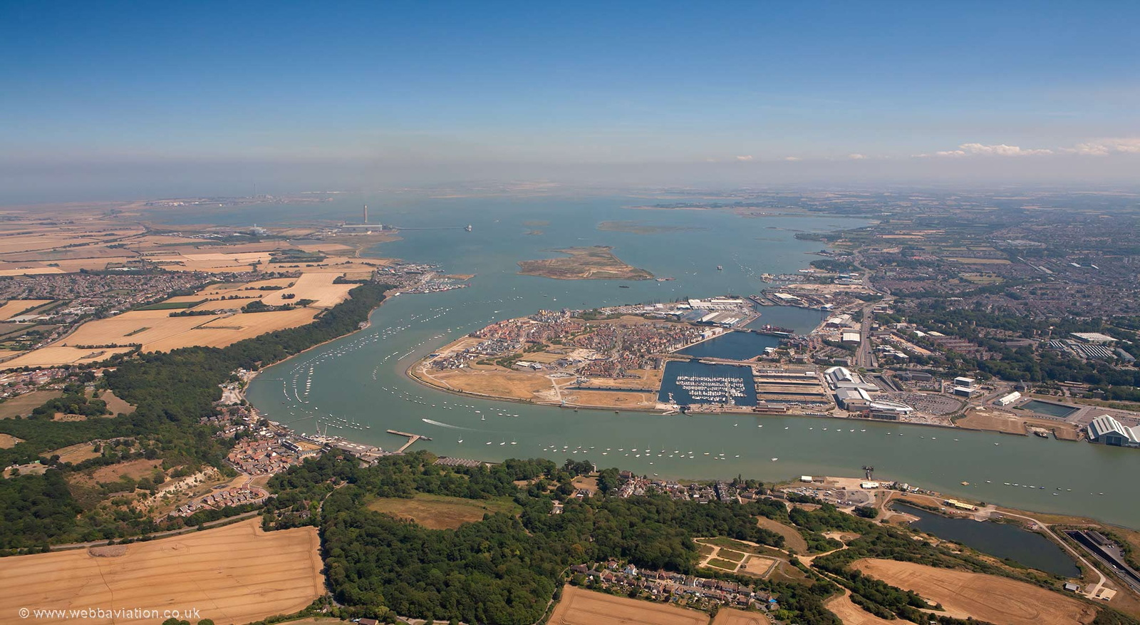 Medway Estuary from the air
