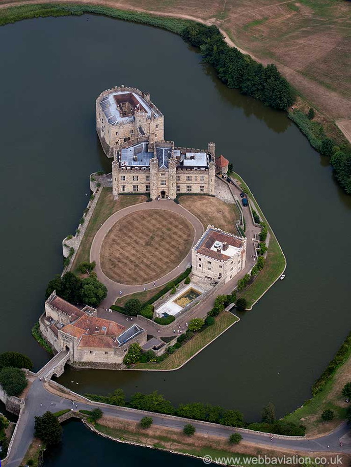 Leeds Castle Kent from the air