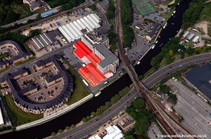 Powerhub building Baltic Wharf Maidstone from the air