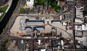 Fremlin Walk Shopping Centre Maidstone  from the air