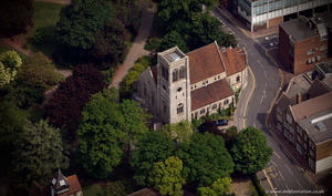 St Faith's Church Maidstone from the air